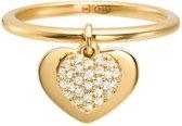 Michael Kors Zilveren Goudkleurige Love Ring MKC1121AN710-56 (Maat: 56)