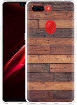 Oppo R15 Pro Hoesje Houten planken