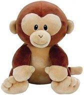 Ty Beanie Boo Banana pluche bruine chimpansee knuffel 17 cm - Apen jungledieren knuffels - Speelgoed voor kinderen