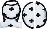UKJE.NL Gordelbeschermers voor Maxi-Cosi Cabriofix en Citi - Wit met zwarte plusjes ♥