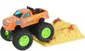 Toi-toys Metal Frictie Monstertruck 9cm Oranje