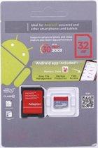 SanDisk Micro SD Card 64GB Class 10 met SDHC Adapter voor Smartphone, Tablet, Digitale Camera