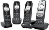Gigaset AS405 Quattro DECT-telefoon - Zwart/Zilver