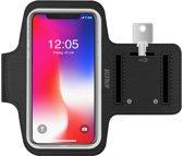 Hardloop armband met Smartphone houder - Zwarte Sportarmband voor iPhone XR / XS / X / 8 / 8 Plus /