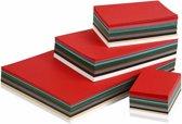 Kerst karton, A3+A4+A5+A6, 180 gr, 1500 div vellen, diverse kleuren