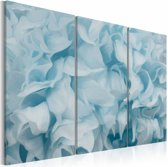 Schilderij - Azalea in blauw , 3 luik