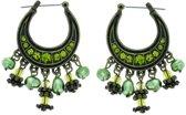 Behave® Oorbel hanger groen 4 cm