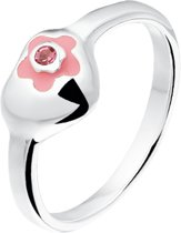 The Kids Jewelry Collection Ring Hart - Zilver