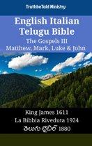 English Italian Telugu Bible - The Gospels III - Matthew, Mark, Luke & John