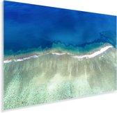 Verschillende kleuren blauw in de zee bij de Kust van Ningaloo Plexiglas 90x60 cm - Foto print op Glas (Plexiglas wanddecoratie)