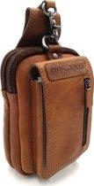 Hill Burry – VB100174 – AK-100 - echt lederen – riemtas- stevig - chique - uitstraling - vintage leder- bruin/ cognac