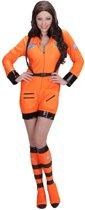 Science Fiction & Space Kostuum | Vrouwelijke Astronaute Oranje Miss Iss Kostuum | Large | Carnaval kostuum | Verkleedkleding