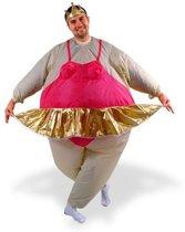 Funtime Ballerina - Kostuum - Opblaasbaar - One Size - Roze