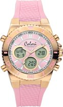 Colori Holland 5 CLD127 Digitaal Horloge - Siliconen Band - Ø 43 mm - Roze