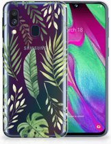 Samsung Galaxy A40 Back Cover Leaves