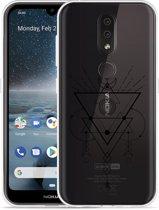 Nokia 4.2 Hoesje Abstract Moon Black