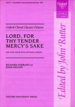 Lord, for thy tender mercy's sake