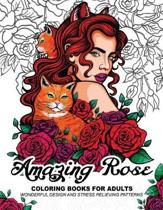 Amazing Rose Coloring Books for Adults