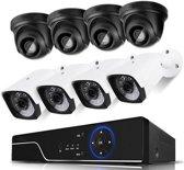 Full HD 1080P Beveiligingscamera set met 8 Camera's 4 Indoor en 4 Outdoor