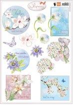 Hobby wenskaartenpakket - Marianne Design decoupage x1 whispering 2 - 10 stuk