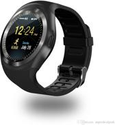 SmartWatch-Trends SWT1 SmartWatch - met SIM Kaart Slot - Camera - bericht notificaties Whatsapp Facebook enz. - Android / IOS - Rond - Zwart - Polsomtrek 13 cm tot 20 cm