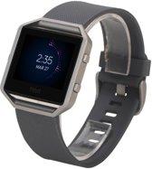 watchbands-shop.nl Siliconen bandje - Fitbit Blaze - Grijs - Small