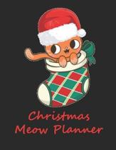 Christmas Meow Planner: Blank Christmas Planner, Holiday Organizer, Write in Journal, Planner Notebook, Daily Planner 92 pages 8.5x11 inches.
