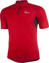 Rogelli Perugia Jersey SS - Fietsshirt - korte Mouw - Rood/Zwart - Maat XXL