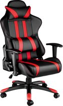 Gaming chair, bureaustoel Premium racing style zwart rood 402030