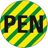 Stickers 'Geleidermarkering PEN', vel, Ø 31,5 mm (6 per vel)
