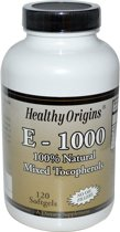 Vitamine E-1000, 120 Softgels, Healthy Origins