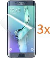 3x Screenprotector voor Samsung Galaxy S6 Edge+ / S6 Edge Plus - Edged (3D) Glas PET Folie Screenprotector Transparant 0.2mm 9H (Full Screen Protector)