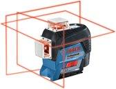 Lijnlaser GLL 3-80 C 4 x AA batterijen + adapter + richtplaat + etui