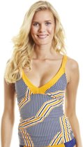 Cabana Life UV Tankini top Dames Orange Drive - Blauw/Oranje - Maat 40 (M)