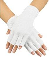 Pr. Vingerloze handschoenen wit