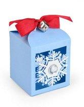 Sizzix Thinlits Die Set - 4PK Snowflake Favor Box 663610 Jordan Caderao