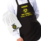 Gift House International Danger Man Cooking - Keukenschot met Muts
