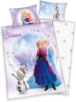 Frozen Sisters Forever - Dekbedovertrek - Ledikant - 100x135 cm + 1 kussensloop 40x60 cm - Multi kleur