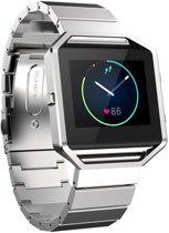 RVS zilver metalen bandje / armband voor de Fitbit Blaze met vlindersluiting Watchbands-shop.nl