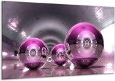 Glasschilderij Modern | Paars, Grijs, Wit | 120x70cm 1Luik | Foto print op Glas |  F004298
