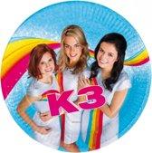 16x stuks K3 thema kinderfeestje feest bordjes - Kinderverjaardag spullen