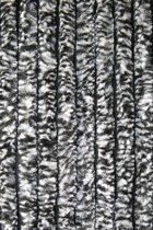 Cortenda kattenstaart vliegengordijn - zwart/wit gemeleerd - 100 x 230 cm