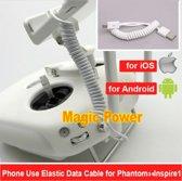 Elastische Datakabel Oplader Draad DJI Phantom inspire iOS