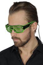 Bril lamellen met groen licht