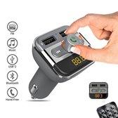 UNIQ Accessory Bluetooth MP3 FM Transmitter - Autolader - Carkit - incl. 2 x USB poort - Zwart