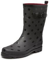 Gevavi Boots Anna Zwart Rubber Regenlaarzen Dames