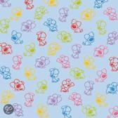 Woezel & Pip Wenskaart: blanco patroon gekleurd (WP803)