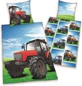 Teen World Jongens Dekbedovertrek Tractor Dubbelzijdig 140x200cm