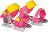 Nijdam Schaatsen - Maat One size - Unisex - roze/geel