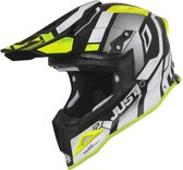 Just1 J12 Crosshelm Vector Matt White/Yellow Fluo/Carbon-XXL